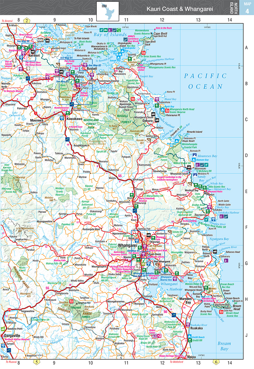 new zealand handy atlas the tasmanian map centre. Black Bedroom Furniture Sets. Home Design Ideas