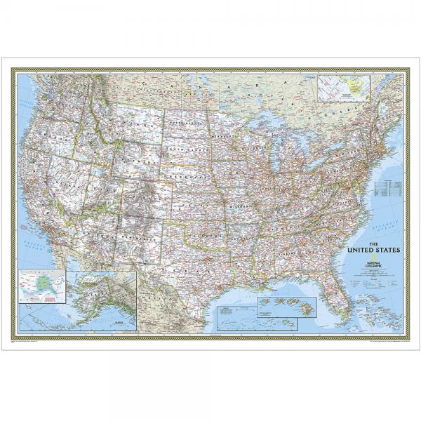 USA Classic Wall Map