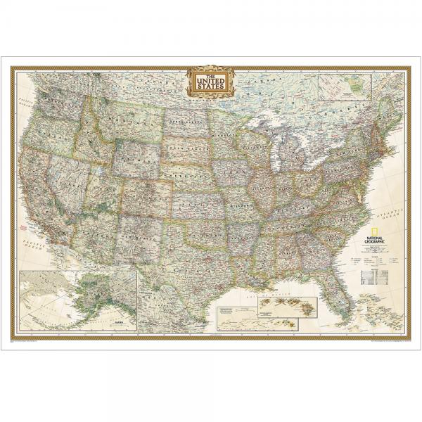 USA Executive Wall Map