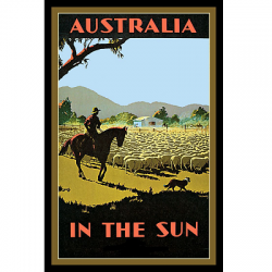 Australia In The Sun Vintage Travel Print