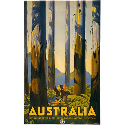 Australia Marysville Tall Trees Vintage Travel Print
