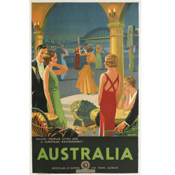 Australia Vintage Travel Print