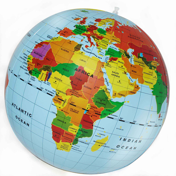 Globe Map Pictures.Inflatable World Globe 50cm The Tasmanian Map Centre