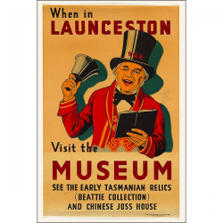 Launceston Vintage Travel Print