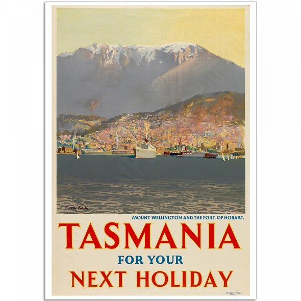 Mount Wellington Hobart Tasmania Vintage Travel Print