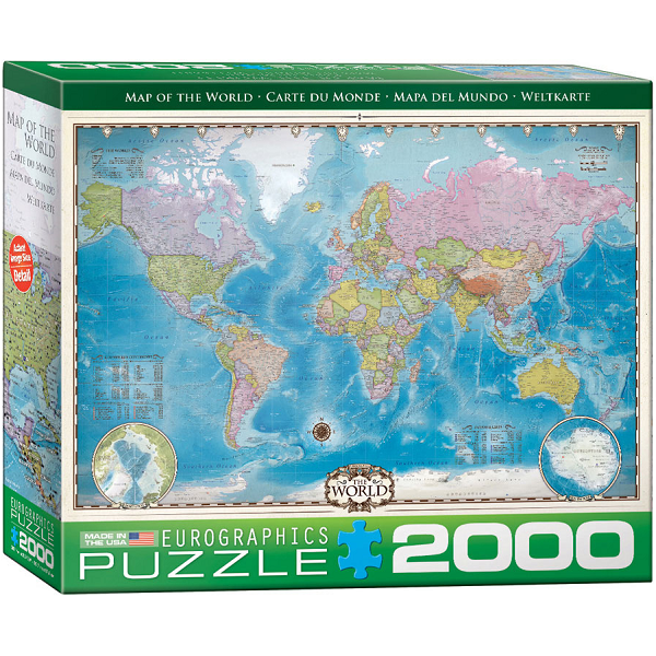Political Map of the World Puzzle 2000 Piece