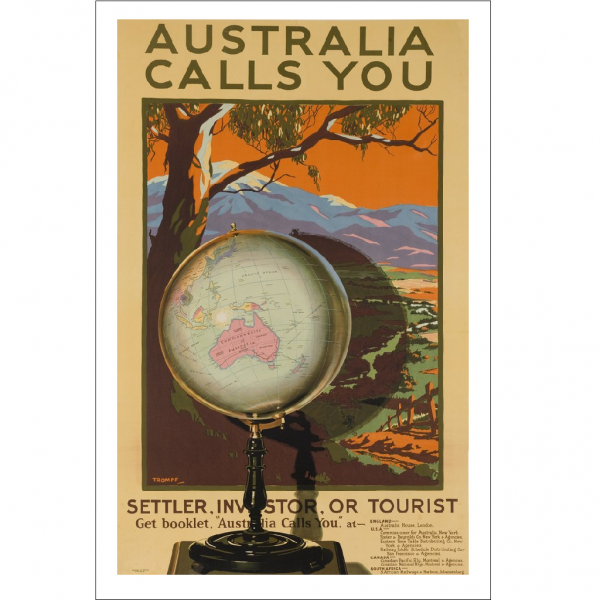 Australia Calls You Vintage Travel Print
