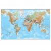 Physical World Wall Map