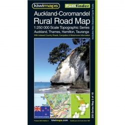 Auckland - Coromandel Rural Road Map NZ 3 of 18