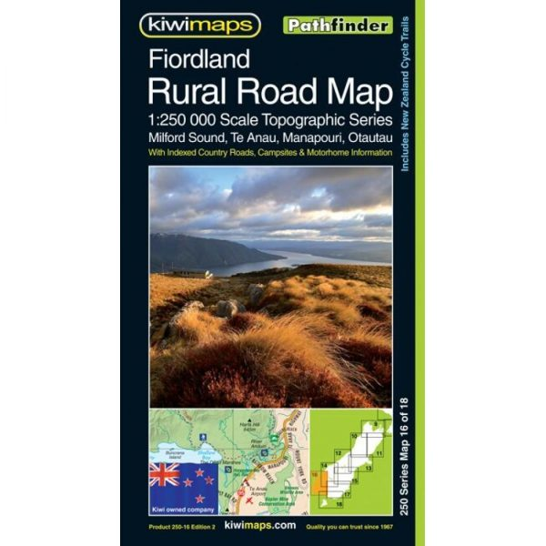 Fiordland Rural Road Map NZ