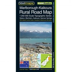 Marlborough-Kaikoura Rural Road Map NZ