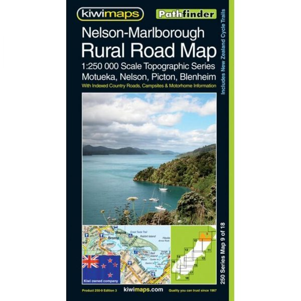 Nelson, Marlborough Rural Road Map NZ