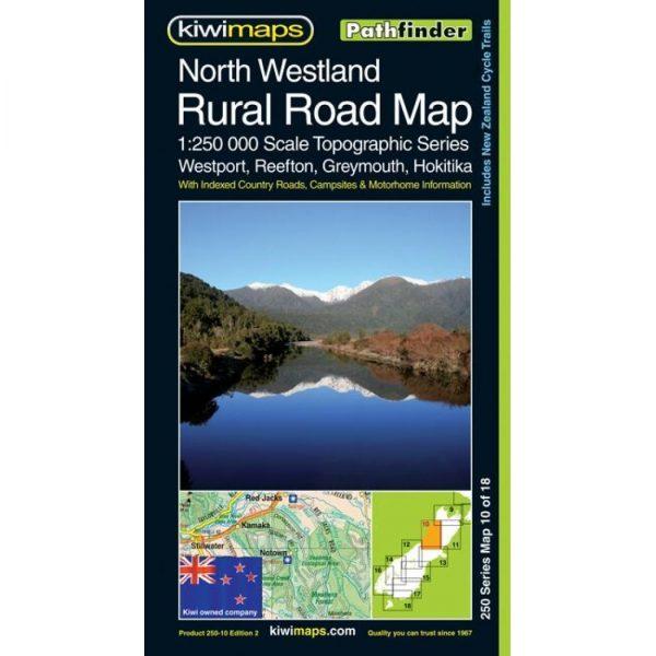 North Westland Rural Road Map NZ