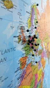 Map Pin Board - Europe