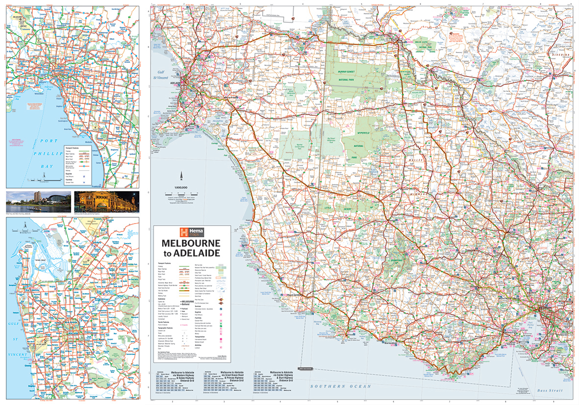 Melbourne to adelaide map the tasmanian map centre melbourne to adelaide map gumiabroncs Images