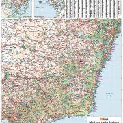Melbourne to Sydney Map Sample