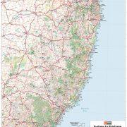 Sydney to Brisbane Map Sample