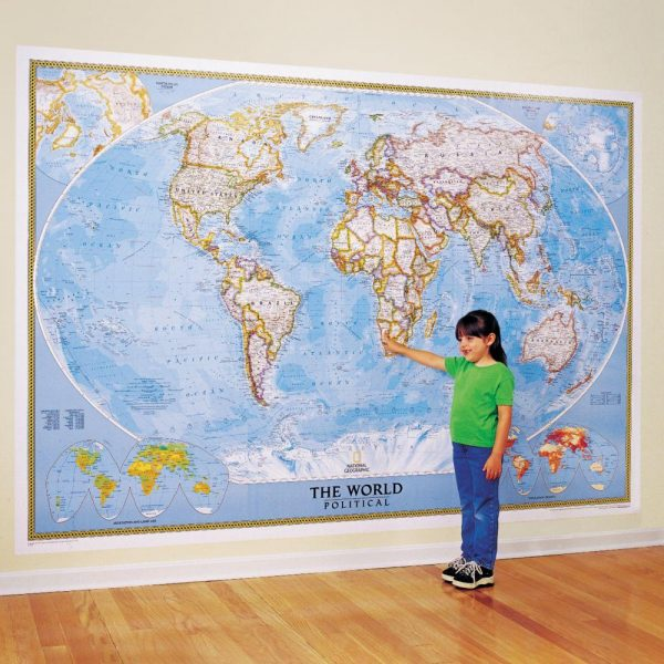 World Classic Wall Map Mural