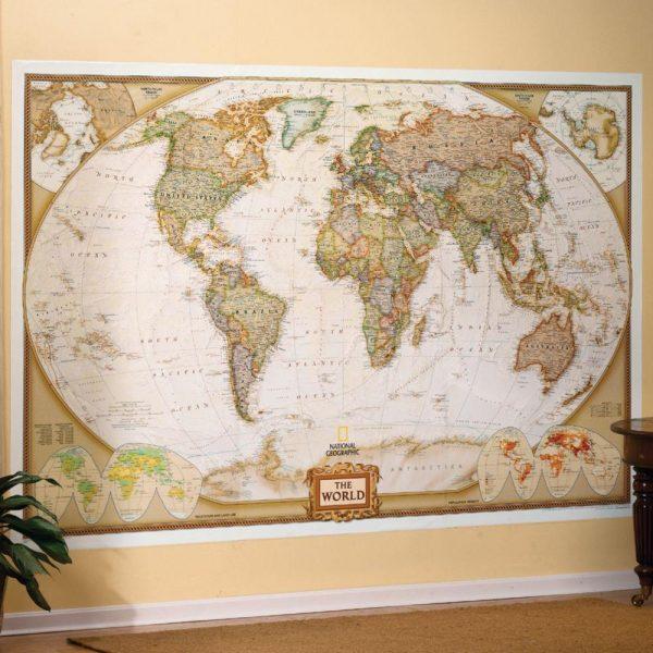 World Executive Wall Map Mural