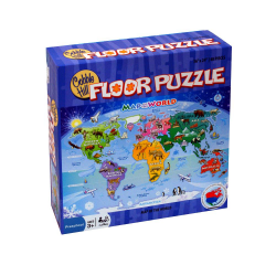 Children's World Map Floor Puzzle