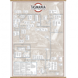 Historic Tasmania Rail Map