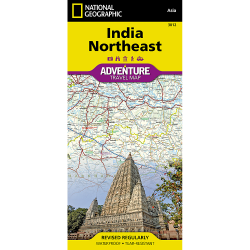India Northeast Adventure Travel Map