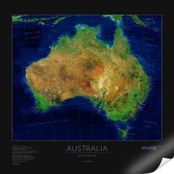 Australia Satellite Image Print