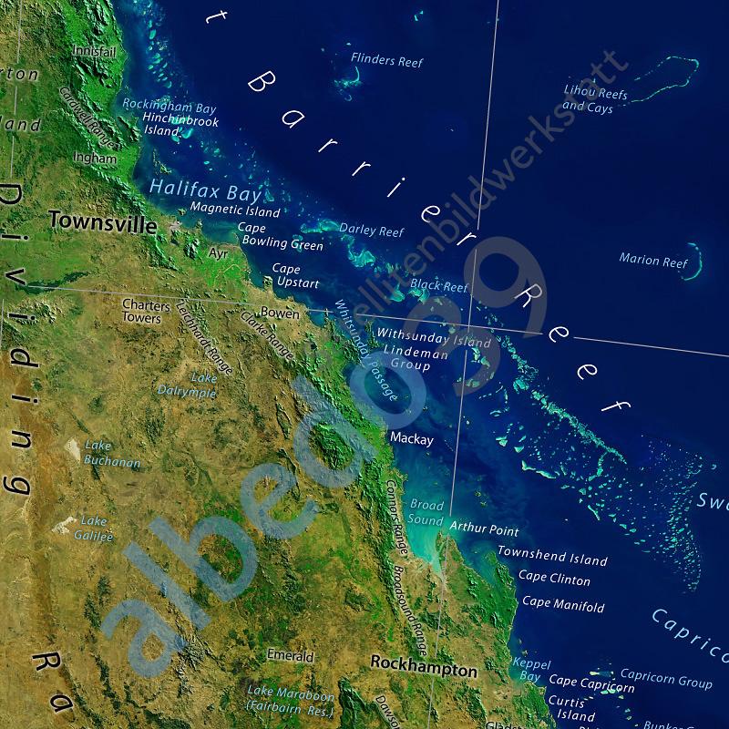 Australia Satellite Image Poster The Tasmanian Map Centre