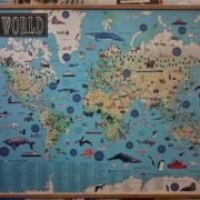 Illustrated World Map with Hangers