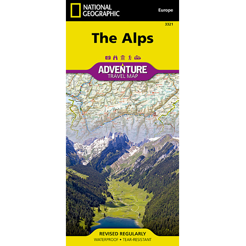 The Alps Adventure Travel Map - The Tasmanian Map Centre