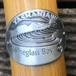 Wineglass Bay Hiking Stick Medallion