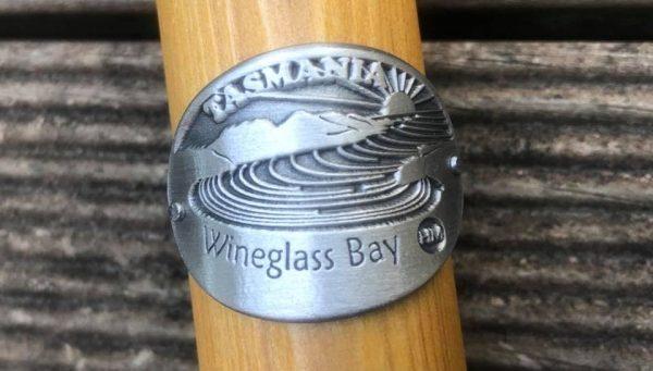Wineglass Bay Hiking Stick Medallion