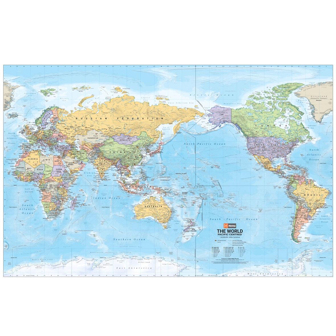 World Supermap Laminated Tubed