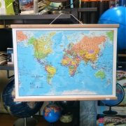 Small World Wall Map, Laminated with hangers