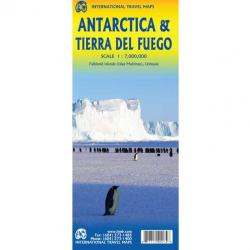 Antarctica & Tierra Del Fuego Map