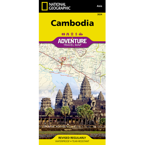 Cambodia Adventure Travel Map