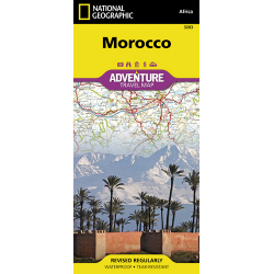 Morocco Adventure Travel Map Cover