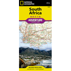 South Africa Adventure Travel Map Cover