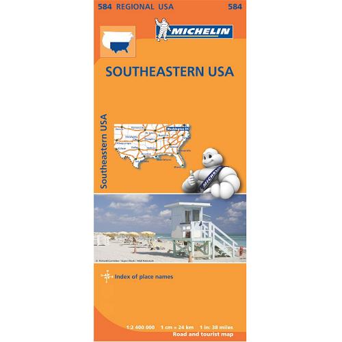 Southeastern USA Map 584 - The Tasmanian Map Centre