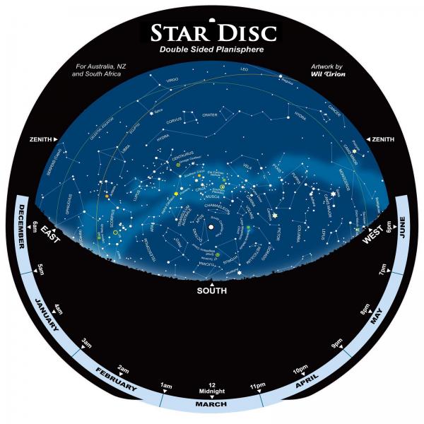 Star Disc Planisphere