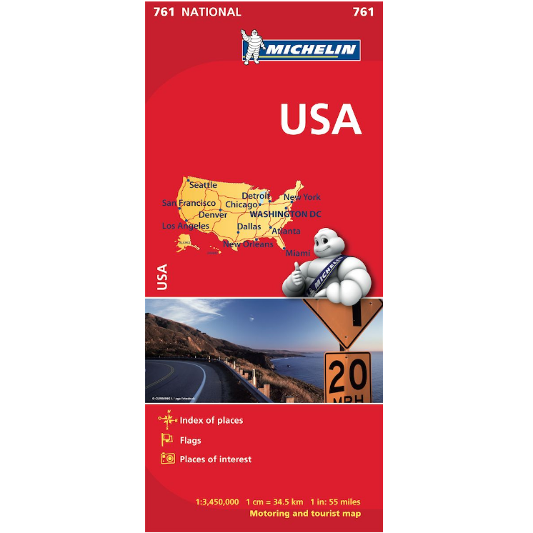 USA Map 761 - Michelin