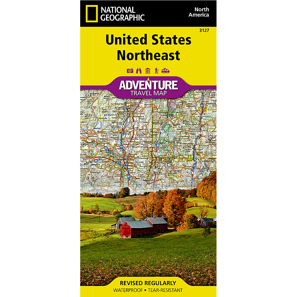 United States Northeast Adventure Travel Map Cover