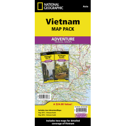 Vietnam Adventure Travel Map Pack