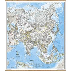 Asia Classic Wall Map on Hangers