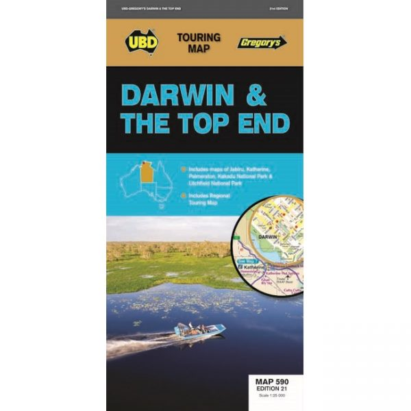 Darwin & The Top End Map
