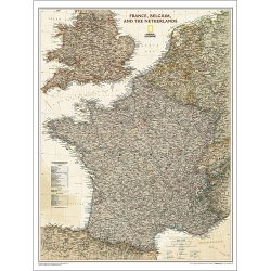 France Belgium Netherlands Executive Wall Map