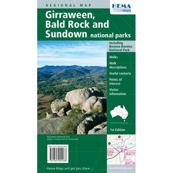 Giraween, Bald Rock and Sundown National Parks Map