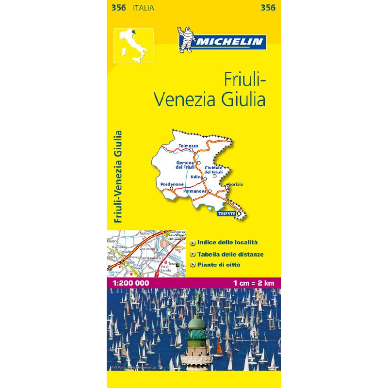 Friuli Italy Map.Friuli Venezia Giulia Region Italy Map 356 The Tasmanian Map Centre