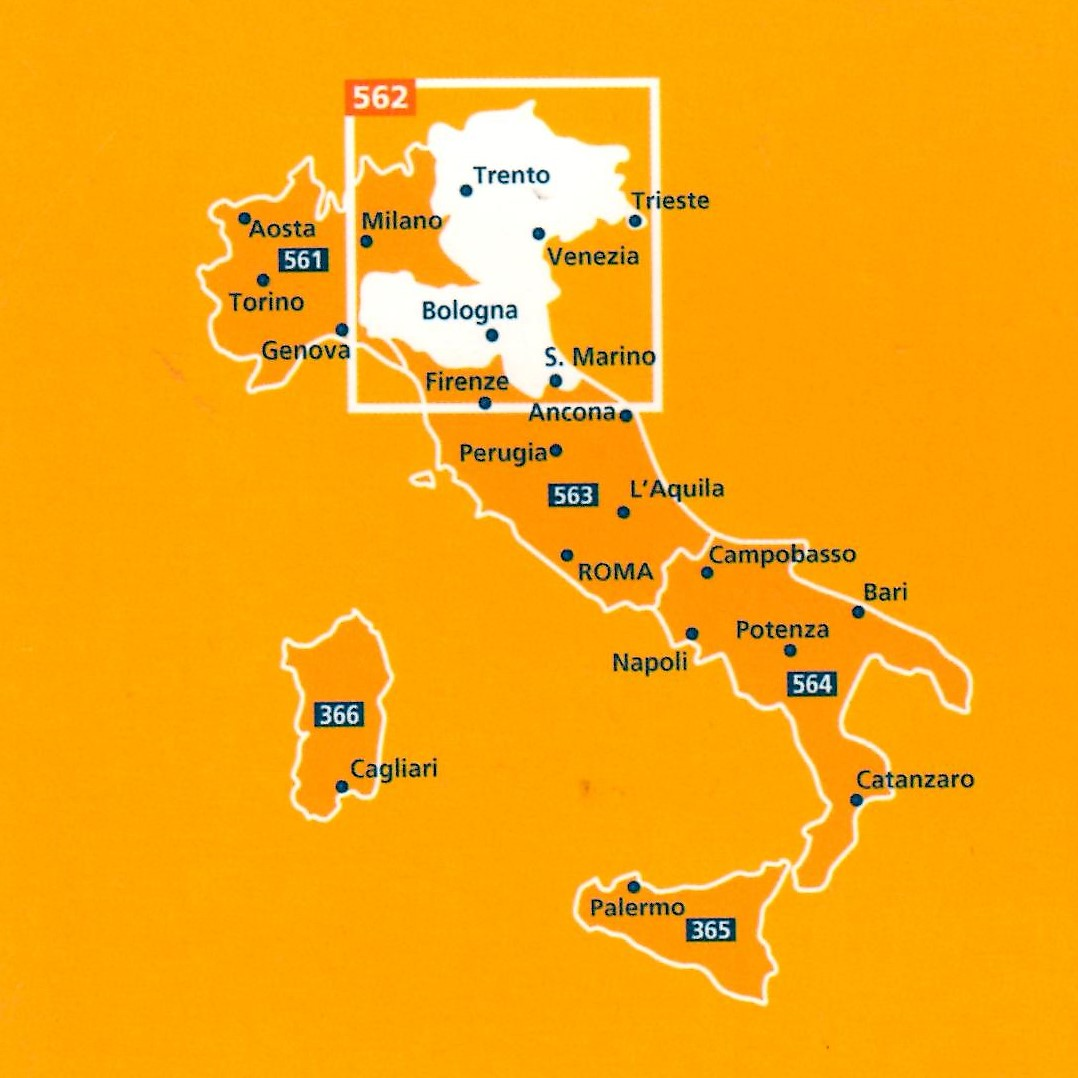 Map Of North East Italy.Italy North East Map 562