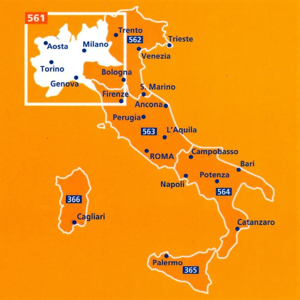 Map Of North West Italy.Italy North West Map 561 The Tasmanian Map Centre